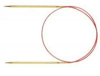 755-7/3-80 Спицы круговые ADDI № 3-80 см  позолоченные